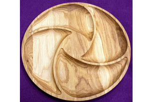 Plate circle spiral (4 sections) 33 cm