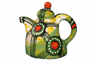Ceramic teapot decor: Abstraction