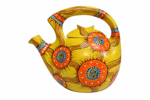 Ceramic teapot decor: Abstractions