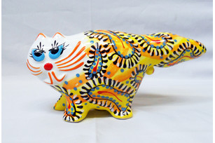 Ceramic cat 12 cm