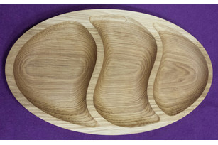 Plate oval (3 sections)
