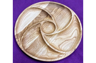Plate circle spiral center (5 sections) 30 cm