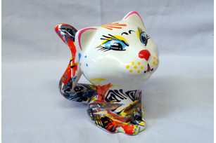 Ceramic cat 14 cm