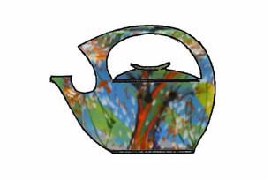 Ceramic teapot decor: Seasons