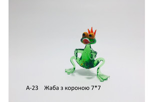 Glass Toad with Crown