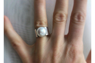 "Handmade silver ring ""Pava"""