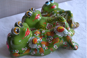 Toad money box 17 cm